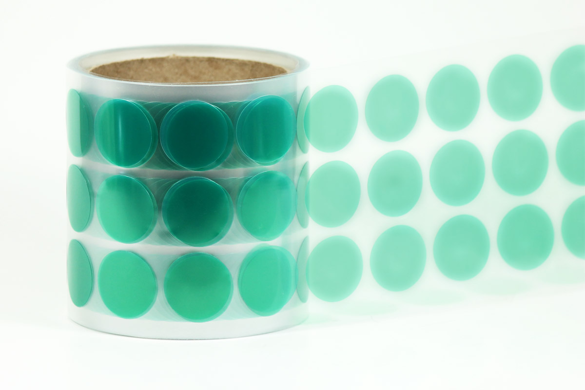 VGD Green Polyester Tape Disks
