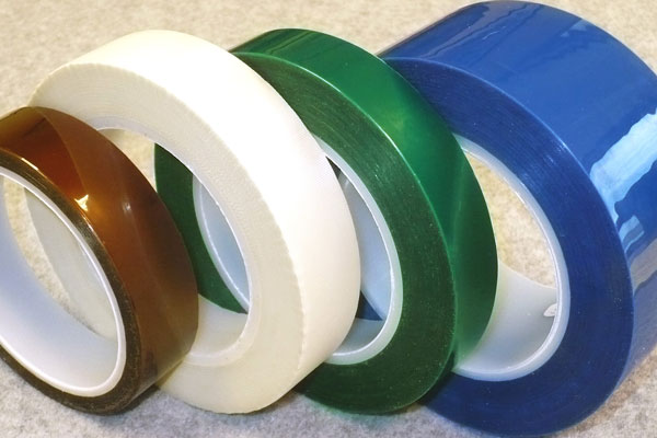 Industrial metal finishing masking tapes