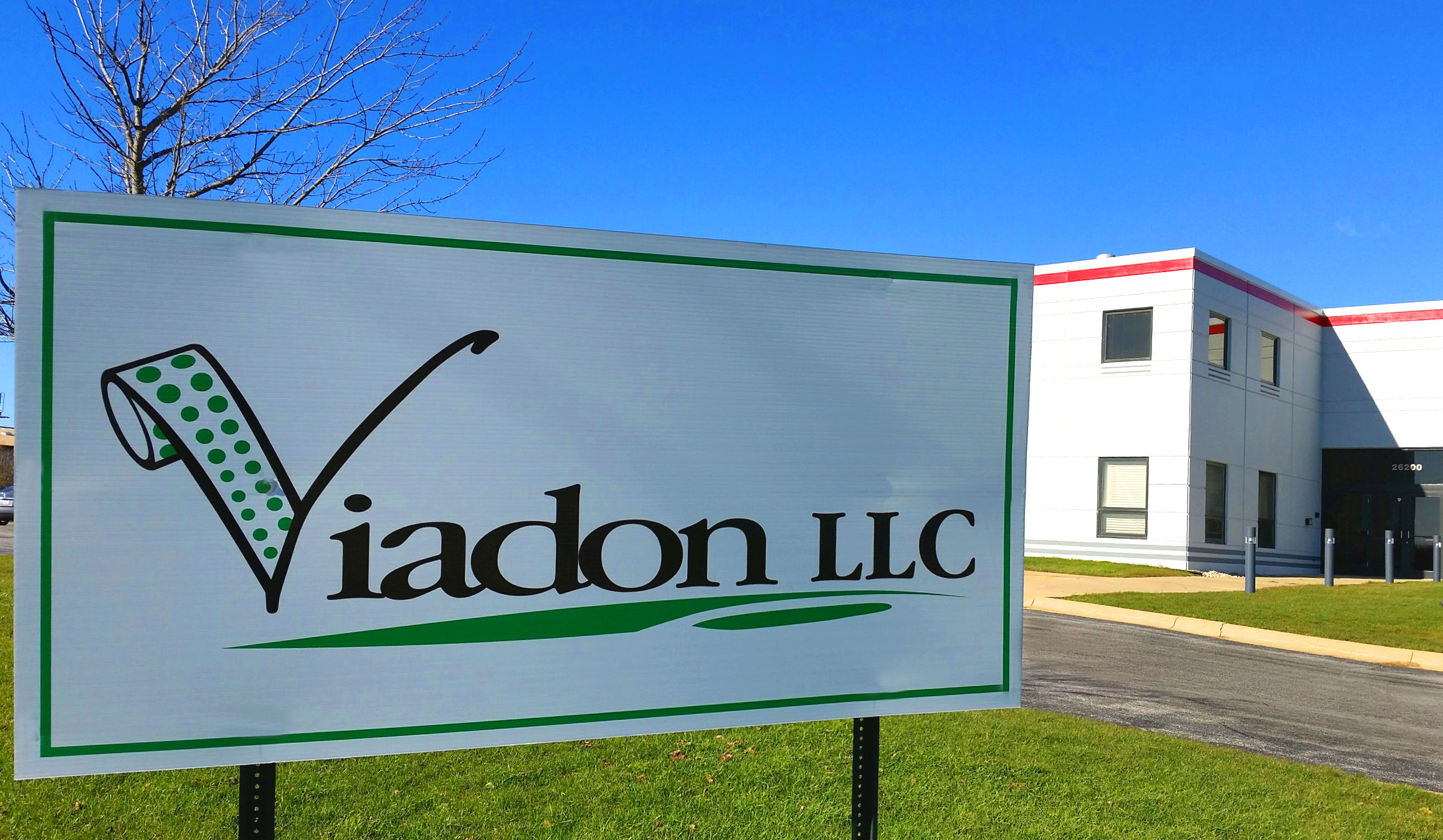 Viadon sign and building